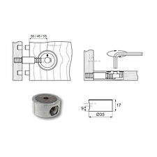 Remplacement 35mm round boîtier métallique robuste lit accessoires pour lits en bois