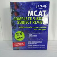 Kaplan Publishing MCAT Complete 5 Book Subject Review Study Sheets 2010