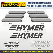 Kit completo 8 adesivi camper HYMER loghi M.3 stickers caravan roulotte decal