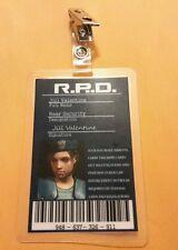 Resident Evil ID Badge-R.P.D Jill Valentine w/photo  prop costume cosplay