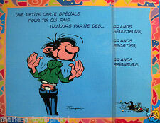RARE Grande carte postale d'anniversaire humour de GASTON LAGAFFE + enveloppe !
