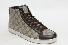 GUCCI Brooklyn High GG Brown Sneakers Men's Shoes US 7 / UK Size 6 G