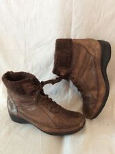 Footglove Brown Ankle Leather Boots Size 5.5