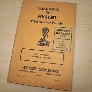 D8N CAT CATERPILLAR Tractor HYSTER Winch Owner Parts Manual Maintenance book hrn