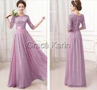2015 Cheap Long Maxi Chiffon Lace Bridesmaid Formal Ball Gown Evening Prom Dress