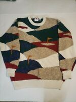 Cotton Traders 90s Vintage Inside Out Cosby Style Ugly Sweater  Mens sz XL Multi