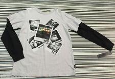 Dkny Camiseta Top con el logotipo de color Beige: tamaño S/8 años BNWT comprado @ Macys de Nueva York