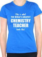 WORLDS GREATEST CHEMISTRY TEACHER - Science / Chemist Themed Women's T-Shirt