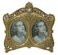 Barock Bilderrahmen Nostalgie Doppel Fotorahmen 2 Fotos Bilder Gold Antik Stil