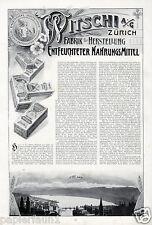 Witschi alimentaire Zurich XL la publicité de 1909 Suisse Zurich Lac Publicité