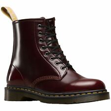 Dr.Martens Vegan 1460 8-Eyelet Cherry Red Men Cambridge Brush Ankle Combat Boots