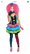 New in Bag Cool Klown Junior Girls Halloween dress up Costume Party M