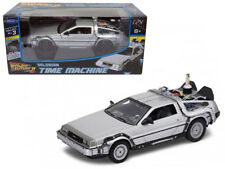 1/24 Welly Delorean Time Machine Back To The Future 2 Movie Flying Diecast 22499