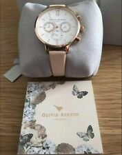 OLIVIA Burton Chrono Detail Watch Nude Peach & Rose Gold OB16CG88