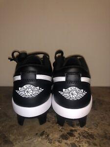 Nike Air Jordan 1 Retro MCS Low Black Baseball Cleats CJ8524-001 Men's Size 12