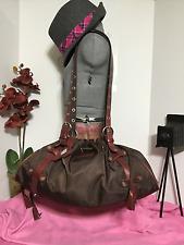 In Apres-Midi De Chien Paris Brown Nylon / Leather Trim Drawstring Handbag