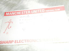 1988 FA CUP MANCHESTER UNITED V CHELSEA TICKET STUB