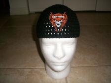 Harley Davidson Inspired HANDMADE Crochet WILLIE G SKULL Cap Beanie Hat Biker