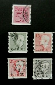 Sweden-1957 Definitives-Used