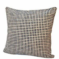 Rennie & Rose Island Collection Protege Grid Stuffed Pillow Blue 24 inch Square