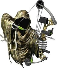 Grim reaper bow hunting camouflage decal sticker