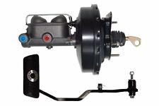"""1967-69 Mustang 9"""" Black Power Brake Booster Master Brake Pedal Drum/Drum 038PA"""