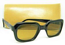 Persol Ratti Meflecto 1970s Vintage 58108 Rare Patent 48-70 Ebony Sunglasses