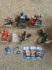 Disney Infinity Figures Bundle Inc Power Discs And Cards marvel avengers