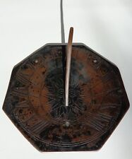 """17th Century Late 1600s English Copper Bronze Sun """"Night Cometh"""" Sundial !"""