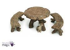 Mini Mini Fee Holzklotz Tisch Bank Home Bonsai Gartenzubehör Decoration Neu
