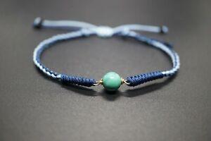 Tibetan Buddhist Handmade Knotted Turquoise Adjustable Bracelet Braided Couple