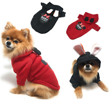 Hoodie Print Pet Dog Clothes Winter Warm Dog Coat Jacket for Small Dogs Cats