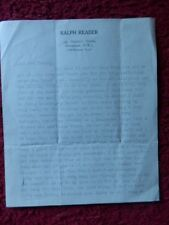 RALPH READER - ACTOR - AUTOGRAPHED LETTER + CHRISTMAS GREETING