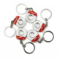 Disc Brake Keychain Creative DIY Funny Keyring Red
