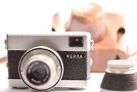 VINTAGE Werra Camera & Carl Zeiss Jena Tessar Lens 50mm f/2.8 & Leather Case