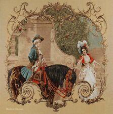 WALL JACQUARD WOVEN TAPESTRY Victorian Date - Horse Riding EUROPEAN ROCOCO DECOR