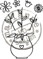 Marianne Design QUILLING Set Stampi Gomma Trasparente FIORI FG2461 Contenuta