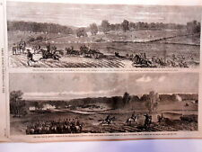 Newspaper Page-Lee Town Jefferson County VA  Engraving Drawing Civil War-1863
