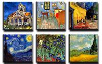 TIME4BILD VINCENT VAN GOGH Sternennacht Cafe 6 BILDER LEINWAND GICLEE ART KUNST