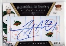 2011-12 CROWN ROYALE SCRATCHING THE SURFACE SIGNATURES CODY ALMOND #22