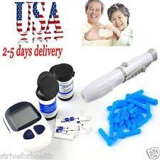 USA! Blood Glucose Starter Kit Glucometer Meter Monitor 50 x test strips New Hot