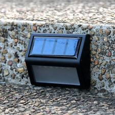 6 LED Solar Power Wall Mount Light Waterproof Garden Fence Yard Lamp
