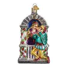 """""""Romeo and Juliet"""" (24165) Old World Christmas Glass Ornament"""