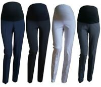 Smart Maternity Skinny Work Trousers Office Formal Elegant Size 8 10 12 14 16 18