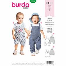 Burda Sewing Pattern 9337 Baby Toddler Boys Girls 3m-2Y Bibbed Overalls Shorts