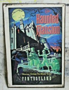 HAUNTED MANSION FANTASYLAND Handmade Disney World vintage sign