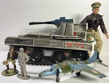 Vintage Military Lot: 50s M-75 Tin Tank Made In Japan, Dinky Toys Squadron Rubin
