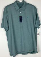Mens Izod Polo Shirt XXL Short Sleeve NWT Striped Cotton Blend