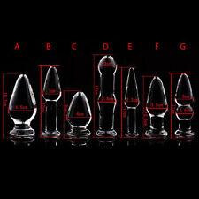 Anal Stimolatore Plug Vetro Glass Fetish Vari Misure Trasparente sex_dildo_toys