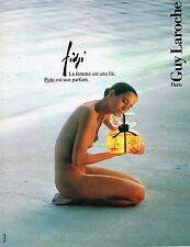 PUBLICITE ADVERTISING 094  1989   GUY LAROCHE  parfum FIDJI